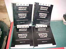 2005 CHRYSLER SEBRING COUPE STRATUS COUPE SERVICE MANUAL SET of 4 VOLUMES xlnt