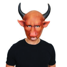 Minator Bull Mask With Horns Halloween Horror Fancy Dress Costume Outfit Prop