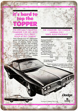 """1971 Dodge Charger Sports Car 10"""" x 7"""" Reproduction Metal Sign"""