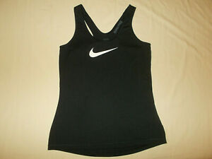 NIKE PRO DRI-FIT BLACK RACER BACK TANK TOP WOMENS MEDIUM EXCELLENT CONDITION