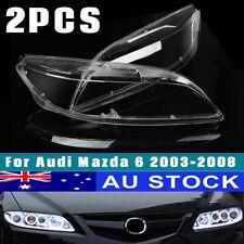 Left & Right Headlight Headlamp Head Lamp Light Lens Cover For Mazda 6 2003-2008