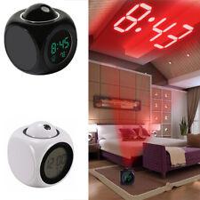 Digitale Alarm Orologio Con Voce LED Proiezione Temperatura Sveglie radiosveglie