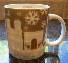 NWT Starbucks PARIS France Gold Relief 2014 Christmas City Collector Series Mug