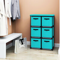 Storage Shelf 6 Drawers Rack Foldable Toy Organizer with Storage Bins Organizer