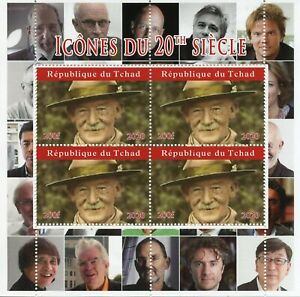 Chad Scouting Stamps 2020 CTO Lord Baden-Powell Scouts Famous People 4v M/S