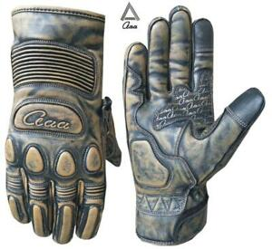 Motorbike Motorcycle Real Vintage Leather Winter Thermal Gloves Touch Screen