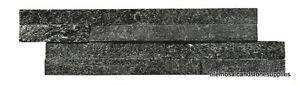 1M2 BLACK  SLATE SPARKLE SPLITFACE CLADDING 10 X 36CM