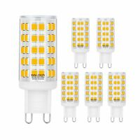 Dimmable G9 6W LED Bulb, 60W Halogen Bulb Replacement, Warm White 3000K, 6 Pack