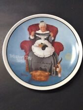 "Norman Rockwell Collector Plate ""Mending Time"""