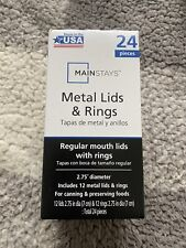 Mainstays Canning Bands & Lids Rings Regular Size Jars 24-Pack In Hand Fast Ship