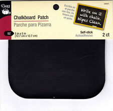 "DRITZ CHALKBOARD PATCH-PEEL & STICK - 2 PC 5"" x 5"" - WRITE ON w/CHALK-WIPE CLEAN"