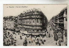 Rue de la Republique - Marseille Photo Postcard c1905