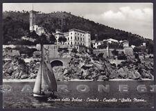 SAVONA CERIALE 23 CASTELLO - BARCA A VELA Cartolina FOTOGRAFICA viaggiata 1961