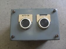 Hoffman Enclosure Type 12&13 ELECTRIC BOX ENCLOSURE AB  PUSH BUTTONS  USED