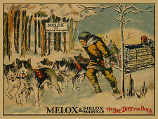 SIBERIAN HUSKY SLED DOG OLD MELOX DOG FOOD ADVERT ON LOVELY GREETINGS NOTE CARD