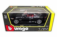 BBURAGO 2008 MASERATI GRAN TURISMO BLACK 1:24 DIECAST MODEL CAR  22107