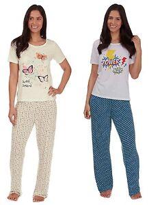 Ladies Novelty Design Lightweight Summer Pyjama / Lounge Set