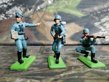 Vtg Britians Deetail WWII Germany Toy Soldier Blue Uniform Set Of 3