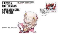 Canada Editorial Cartoonists Bruce Mackinnon FDC 2021