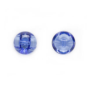 50pcs Transparent Round Acrylic Buttons Decor Clothing Sewing Scrapbooking 12mm