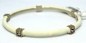 NEW BANANA REPUBLIC 5 DIAMOND BRACELET; WHITE GOLD DIAMOND