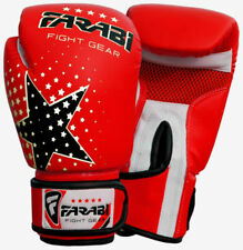 Farabi Kids MMA Muay Thai Junior Boxing Gloves - Red