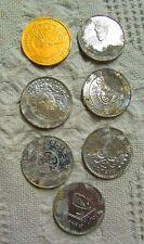 Lot Of  7 Vintage Mardi Gras Coins, Variety Of Designs