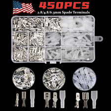 450X Assortment Male Female Spade Terminals Kit Electrical Wire Crimp Connectors