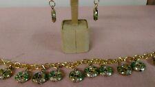 Vintage Cloisonne Charm Bracelet & Matching Pierced Earrings