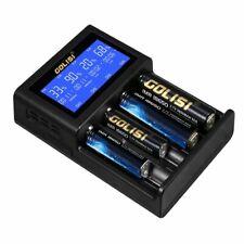 4 Slots Smart LCD Rechargeable Battery Charger for AA & AAA Ni-MH Ni-cd EU Plug