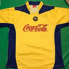 Club America Soccer Jersey Coca-Cola Corona Yellow Large