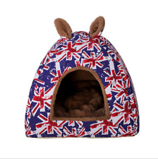 Pet Bed Cats Dogs Warm House Tent Dual purpose Cute Rabbit Ear Shape