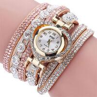 Sale Womens Stainless Steel Crystal Diamond Bracelet Analog Quartz Wrist Watch