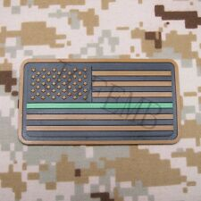 The thin Green line America flag Federal Agents, Park Ranger 3D PVC Patch