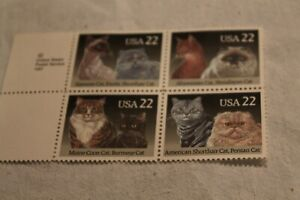 Cats No 2375a Two Pane Blocks of Vintage Unused Postage Stamps