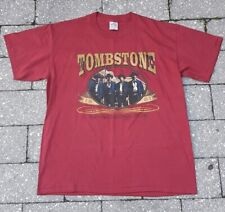 """New listing Vintage Early 90's Tombstone """"The Town Too Tough To Die� Single Stitch Nos sz.Xl"""