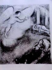 Marc Chagall offset lithograph Bible  paris maeght 1960 original  2 sided 135