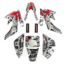 Pit Dirt Bike Plastic Sticker Graphic Decal Set Honda Record CRF50 110cc 125cc
