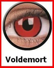 Crazy & Fun Contact Lens Lentilles Kontaktlinsen Voldemort Red Rough Rot Zombie