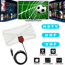 Indoor Digital HD TV HDTV Antenna FM/VHF/UHF FREE TV Signals Clear 50 Miles