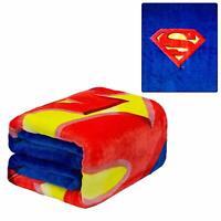 DC Comics Justice League Superman Shield Man of Steel Plush Twin Size Blanket