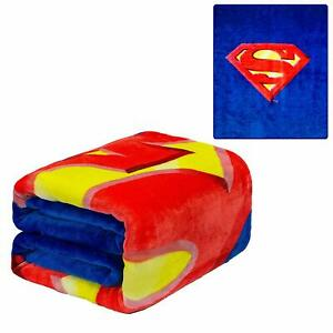 DC Comics Justice League Superman Shield Man of Steel Plush Twin Size Blanket