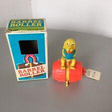 70s#RARE VINTAGE WIND UP BARRER ROLLER DOG#PLASTIC OLD TOY#NIB