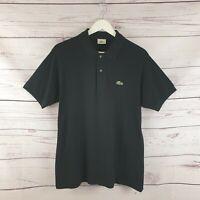 Lacoste Mens Black Short Sleeve Polo Shirt Size 4 UK Size Medium M