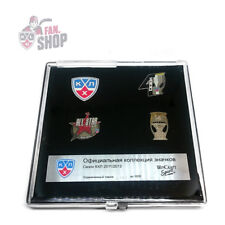 KHL pin set, official collection 4th season 2011-2012, Russia, Ice Hockey