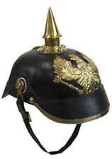 Leather Helmet Handtooled Handcrafted Faux Leather Pickelhaube Helmet