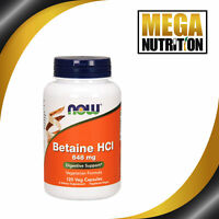 NOW Foods Betaine HCL 648mg 120 Veggie Caps | Liver Cleansing Detoxification