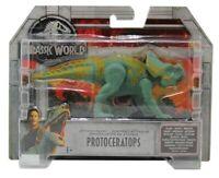 Mattel Jurassic World Protoceratops Spielfigur naturbemalt 15 cm für Kinder, NEU