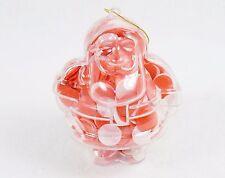 Santa Shape Bath Soap Ornament w/Pink & Red Confetti, Floral Scented, Style #1
