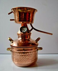 gebrauchte 2-Liter Alquitara mit Thermometer DA ätherischer Öle - Destille 2L